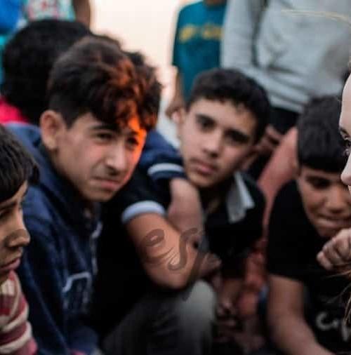 Angelina Jolie visita a los refugiados sirios en Jordania