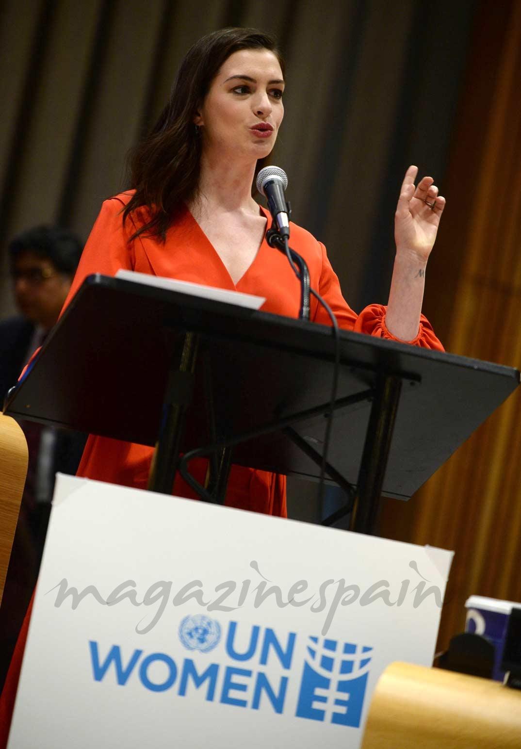 Anne Hathaway en la ONU