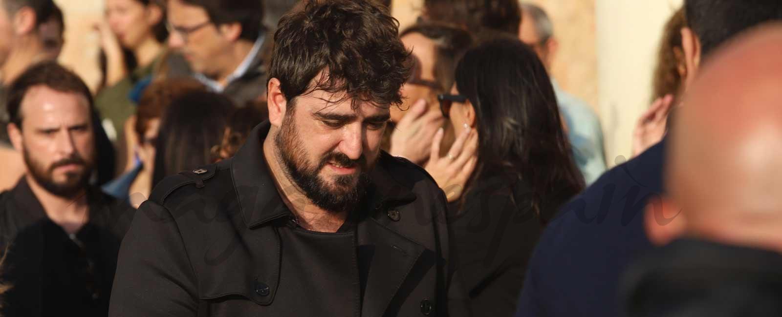 El dolor de Antonio Orozco en el funeral de su ex