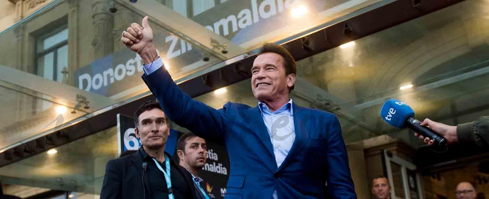 Arnold Schwarzenegger derrocha simpatía en el Festival de Cine de San Sebastián