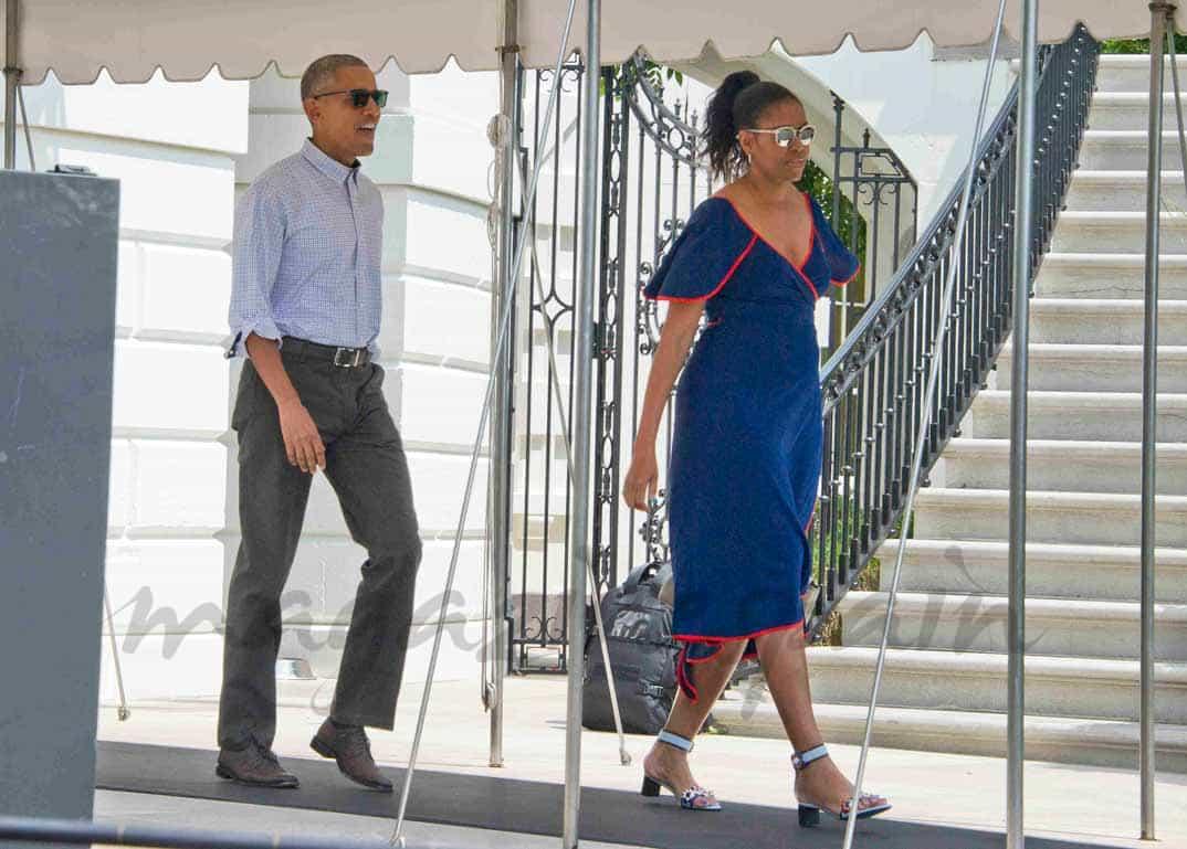 familia obama comienza sus cacaciones