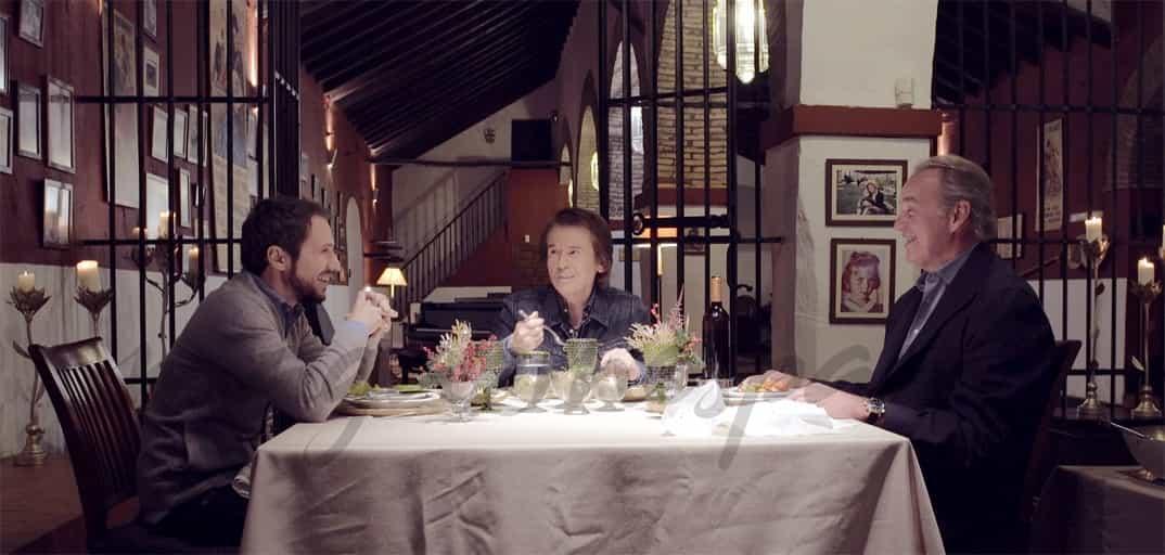 """Bertin Osborne, Raphael y su hijo Manuel Martos en """"Mi casa es la tuya"""" © Mediaset"""