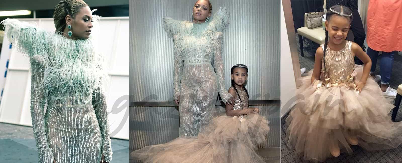 El vestido de princesa, de 11.000$, de la hija de Beyoncé en su primera alfombra roja