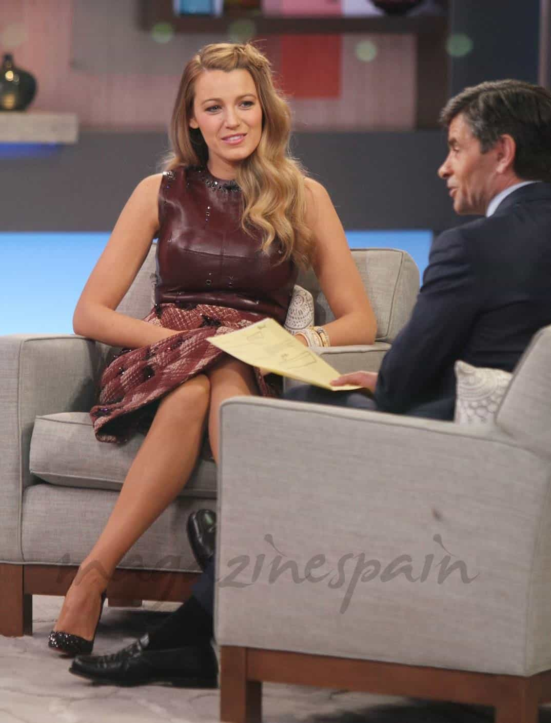 "Blake Lively en ""Good Morning America"""