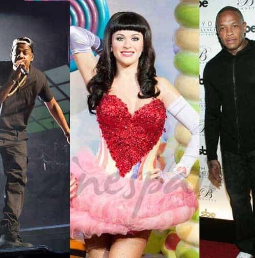Beyoncé, Dr-Dre, Jay-Z, Rihanna y Katy Perry entre los más poderosos