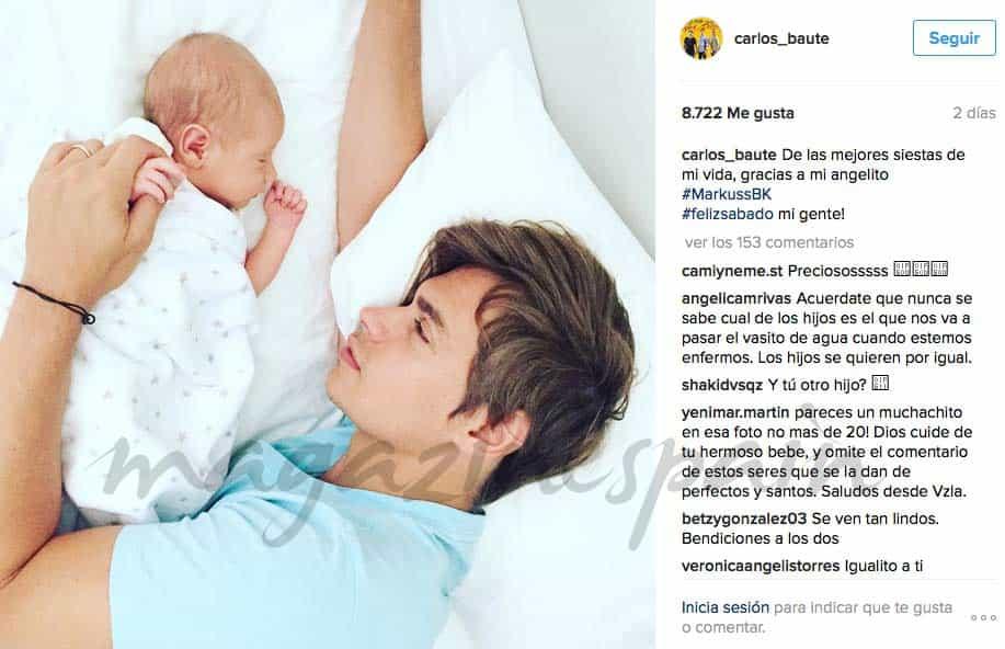 carlos-baute y astrid klisans-presenta en instagram a su hijo markuss