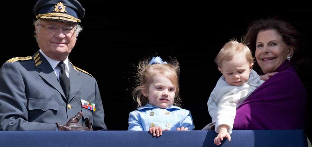 Las nietas del rey Carlos Gustavo de Suecia, protagonistas de su cumpleaños