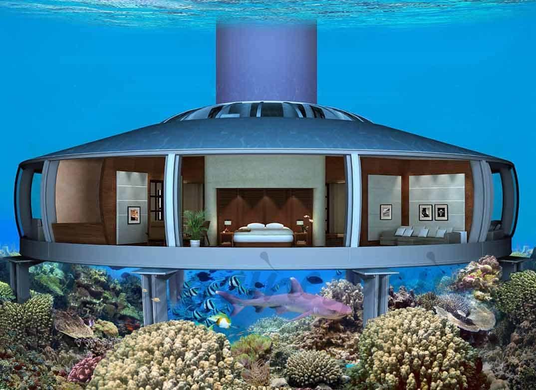 Casa de lujo en el fondo del mar - Casas en el mar ...