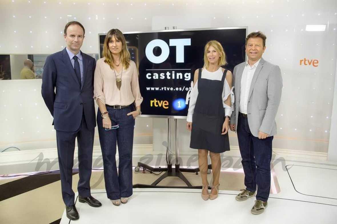 Toni Sevilla, Noemí Galera, María José Bultó y Tinet Rubira durante la presentación de OT rtve