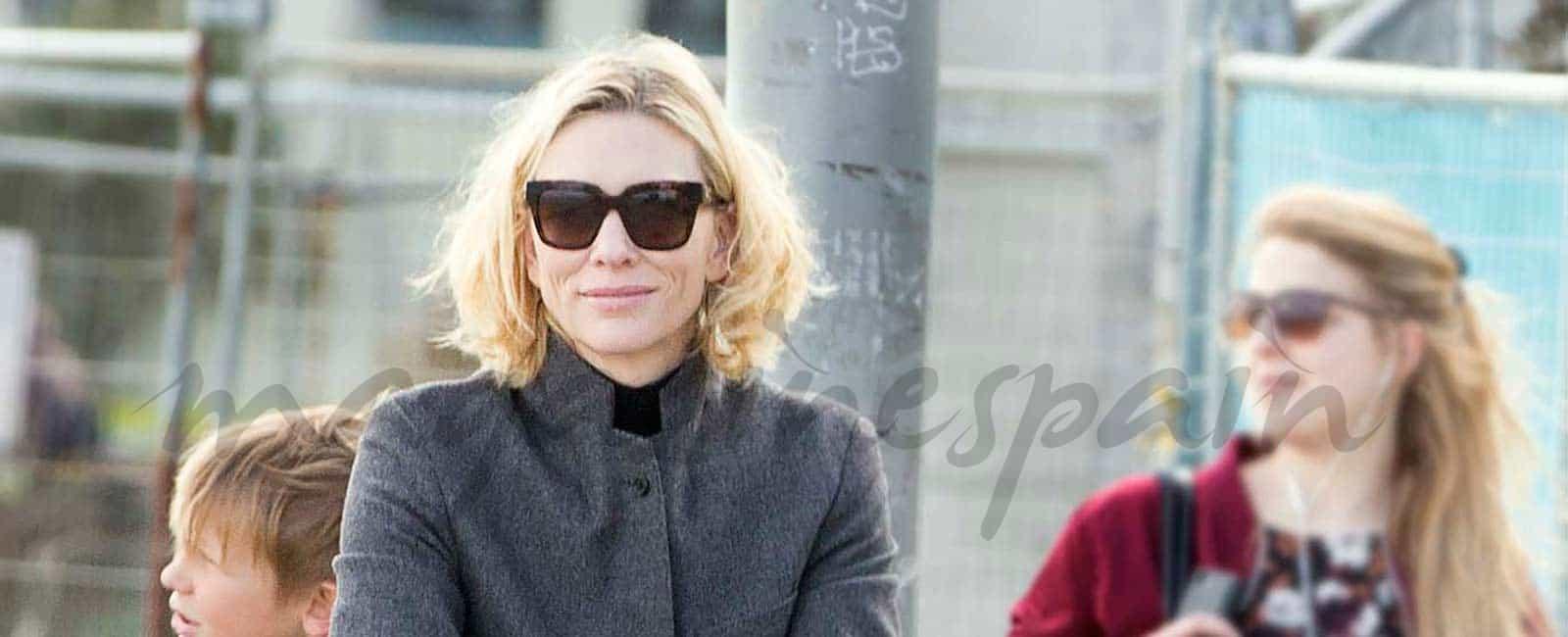 Cate Blanchett presume de familia
