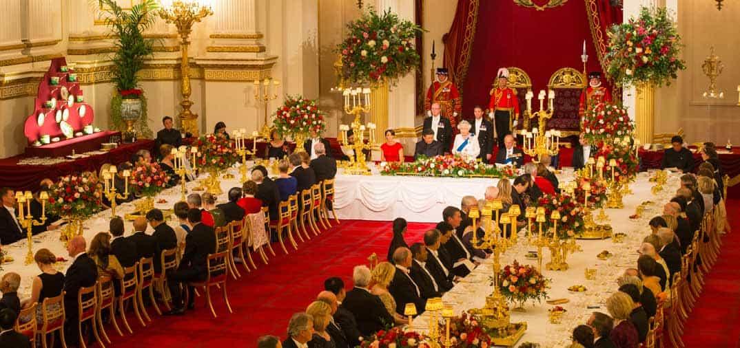 Cena de gala en Buckingham Palace en honor del Presidente Chino, Xi Jinping