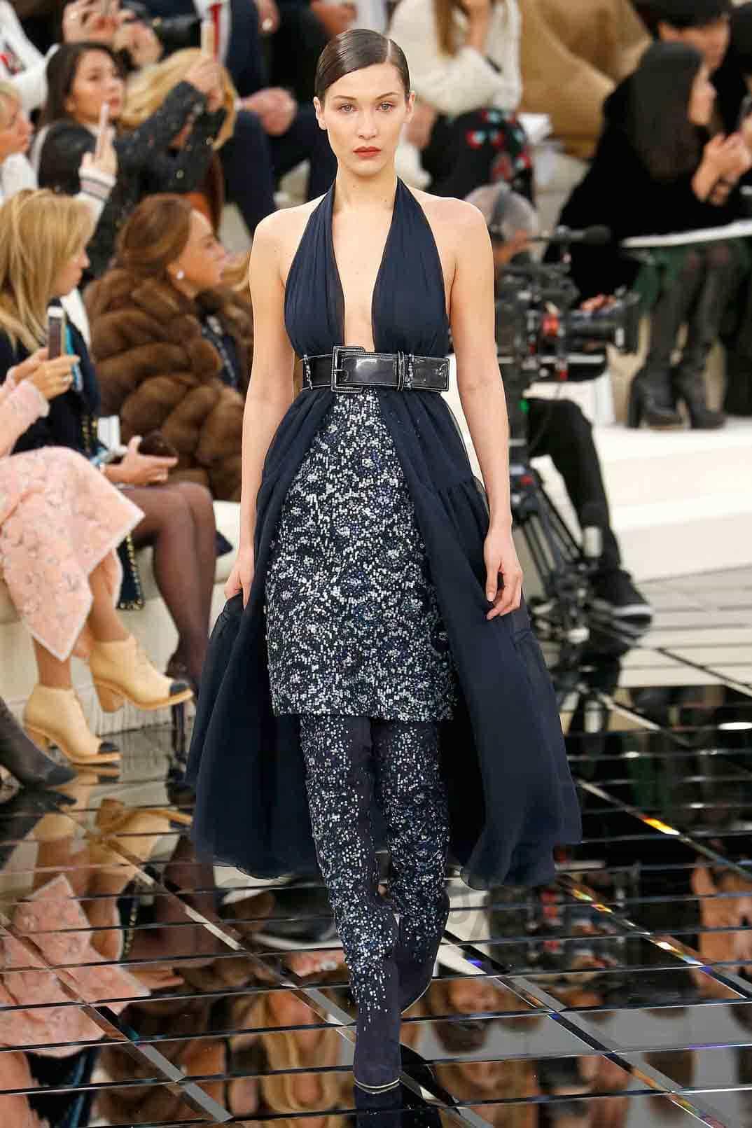 bella hadid chanel alta costura 2017