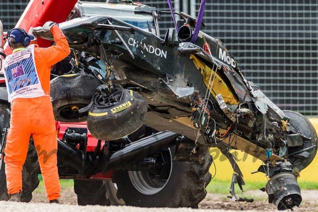 accidente coche de fernando alonso