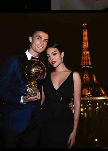 cristino ronaldo y georgina rodriguez quinto balon de oro
