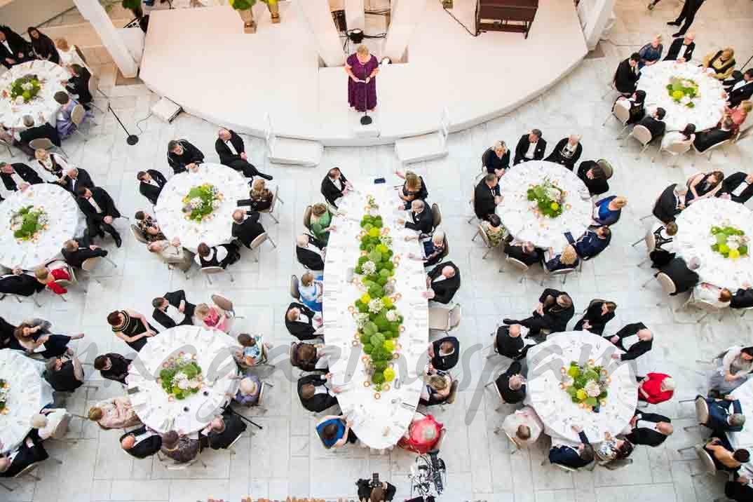 cena de gala cumpleaños reyes de noruega