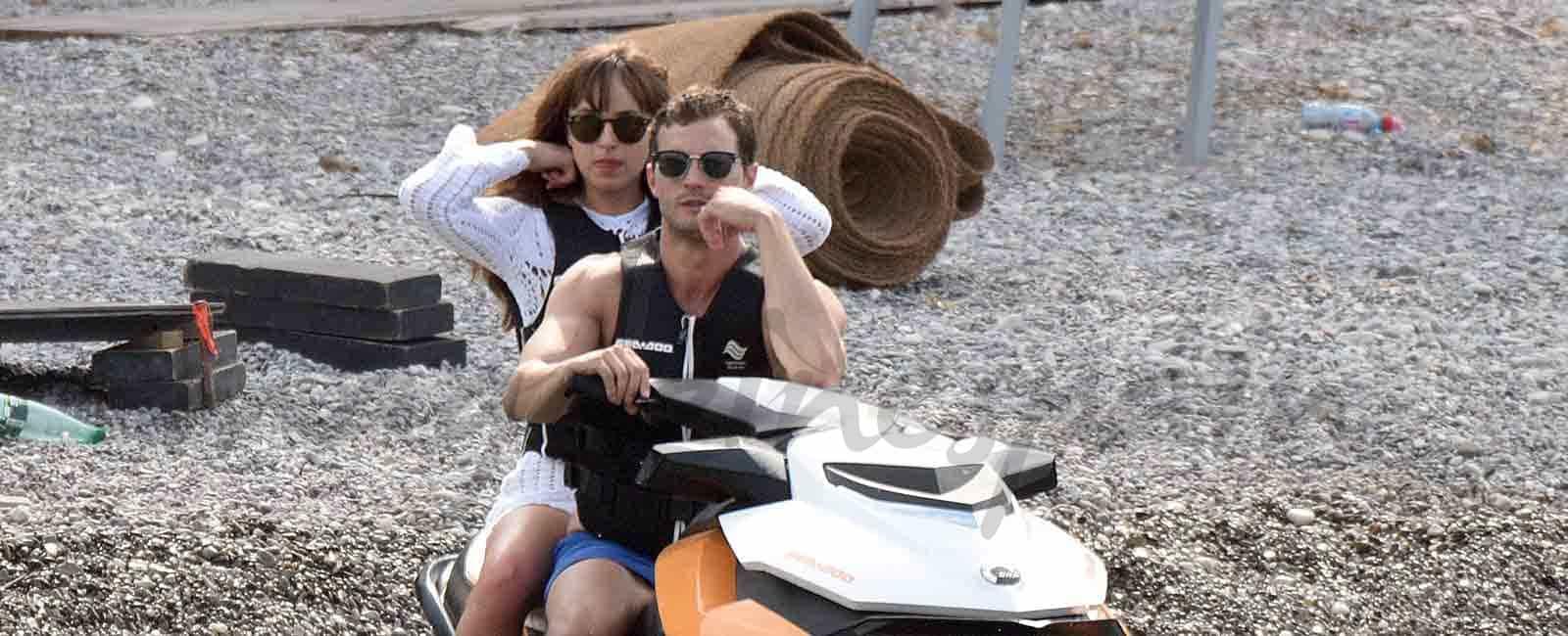 "Dakota Johnson y Jamie Dornan ruedan ""Cincuenta sombras liberadas"""