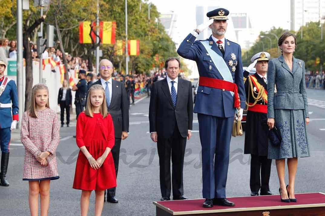 La Familia Real el Día Nacional
