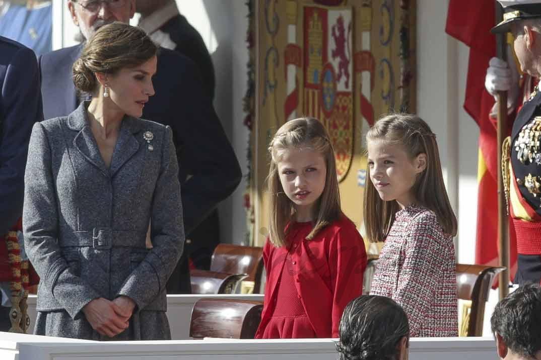La reina Letizia, la prinesa Leonor y la infanta Sofía el Día de la Fiesta Nacional