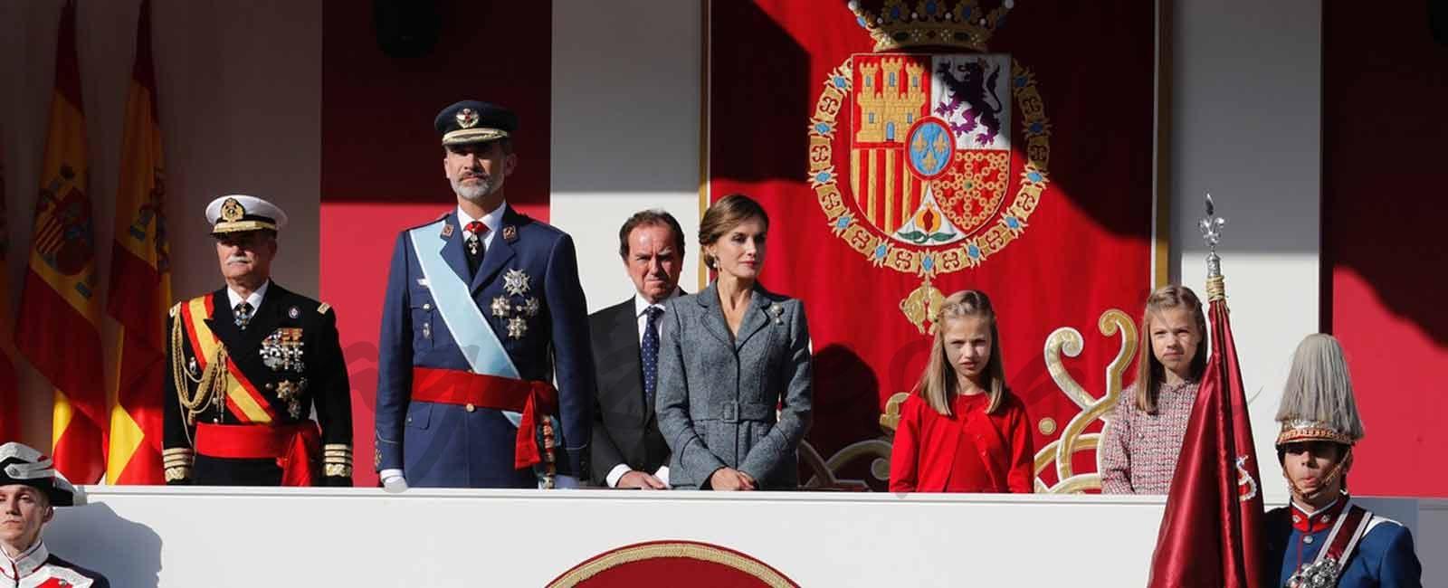 Los Reyes y sus hijas celebran el Día de la Fiesta Nacional