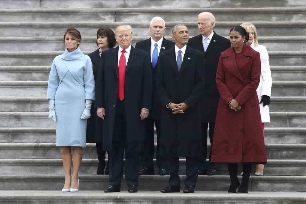 Michelle Obama, Melania Trump, Donald Trump, Barack Obama
