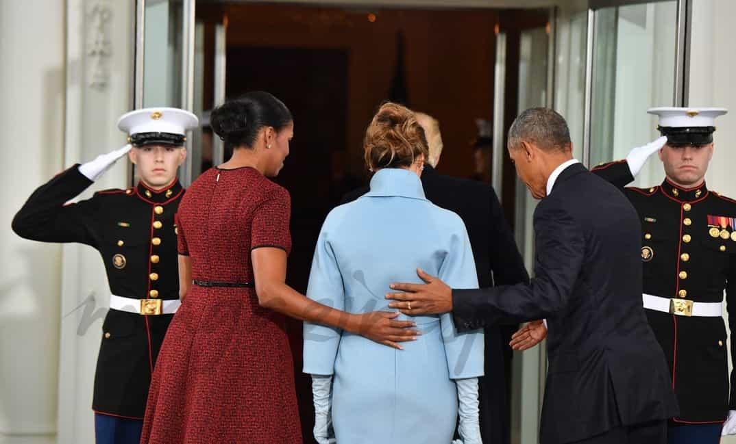 Michelle Obama, Melania Trump, Barack Obama