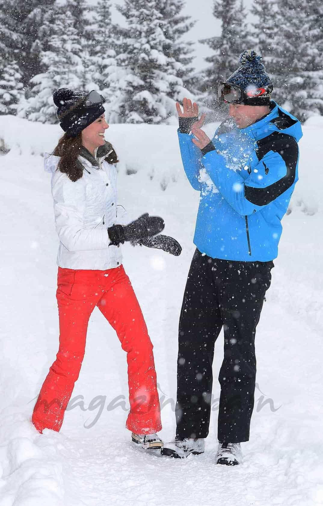 duques de cambridge vacaciones en la nieve