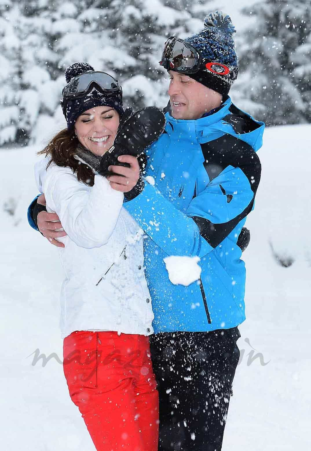 duaues de cambridge vacaciones en la nieve