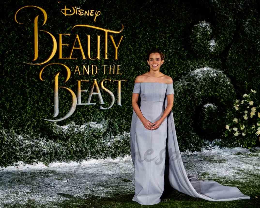 emma watson en londres en el estreno de la bella y la bestia