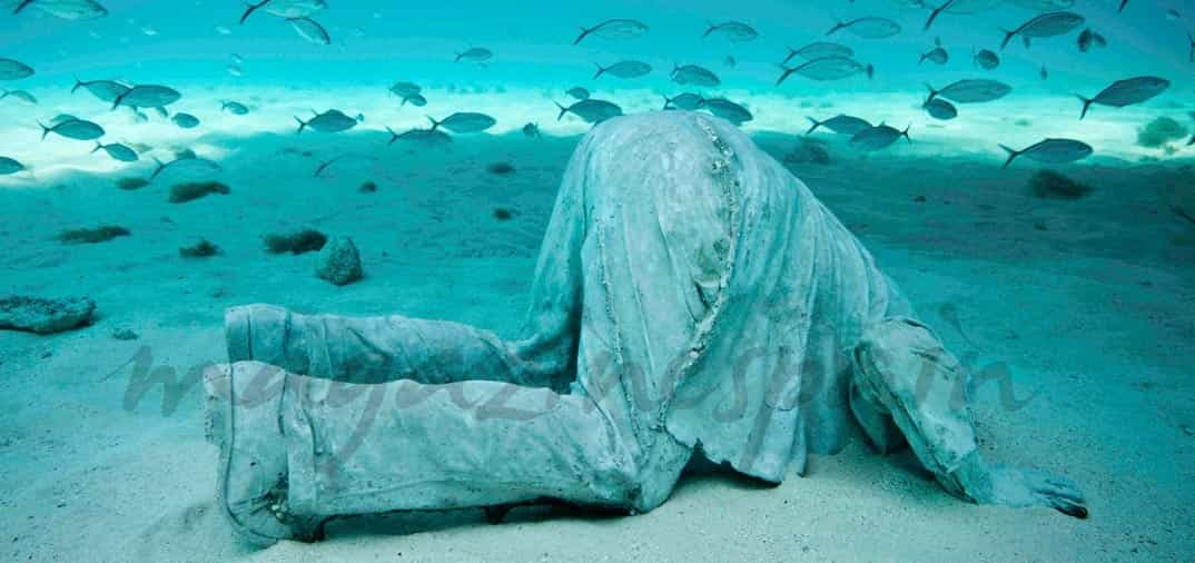 Espectaculares esculturas bajo el mar