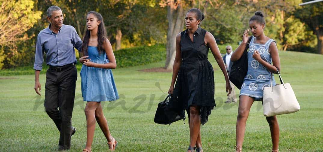 La familia Obama da por finalizadas sus vacaciones