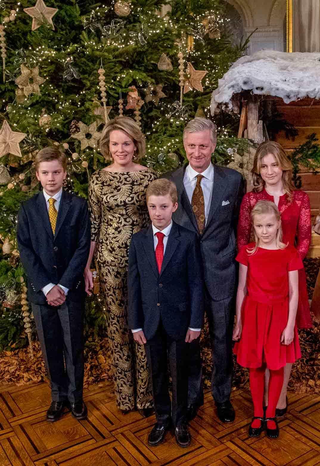 familia real belga en el concierto de navidad