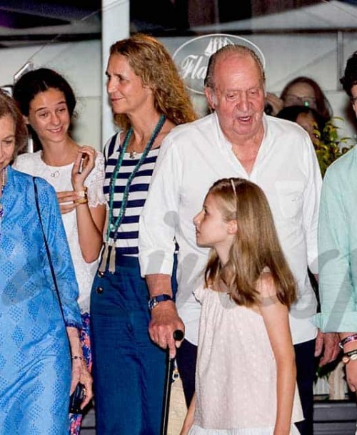 Los reyes Felipe y Letizia, cena familiar en Mallorca