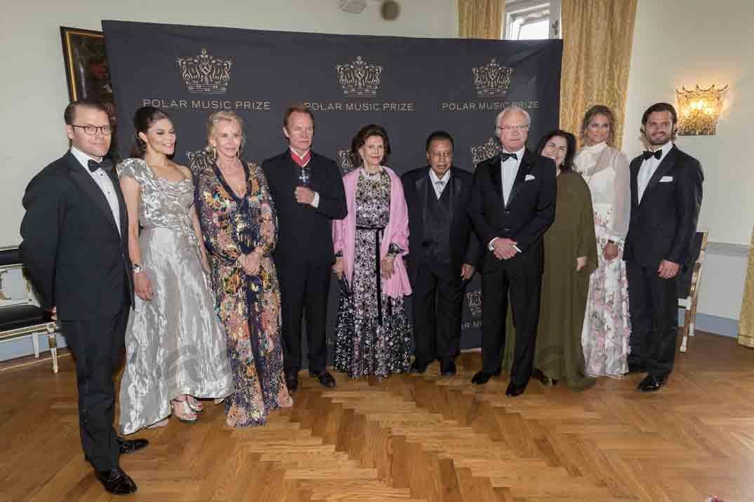 familia real sueca en los premios polar music