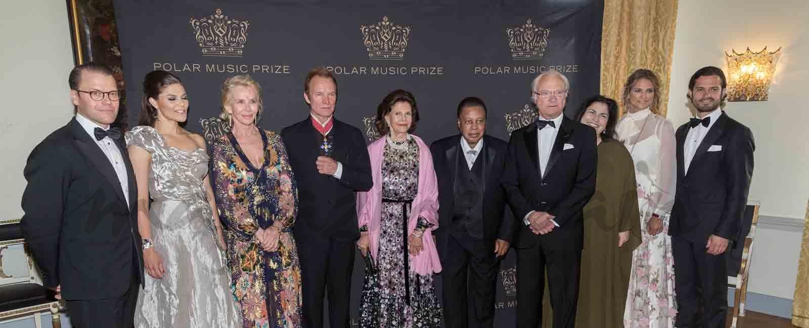 La familia real sueca se viste de gala para entregar los «Polar Music Prize»