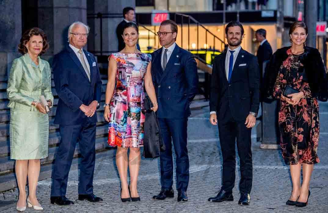 familia real sueca se reune en apertura de su parlamento