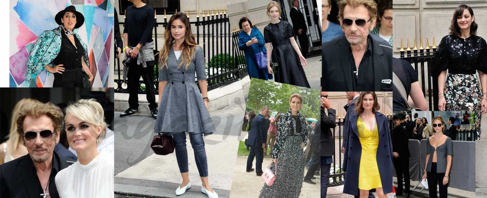 Famosos en el desfile de Dior, en París Fashion Week