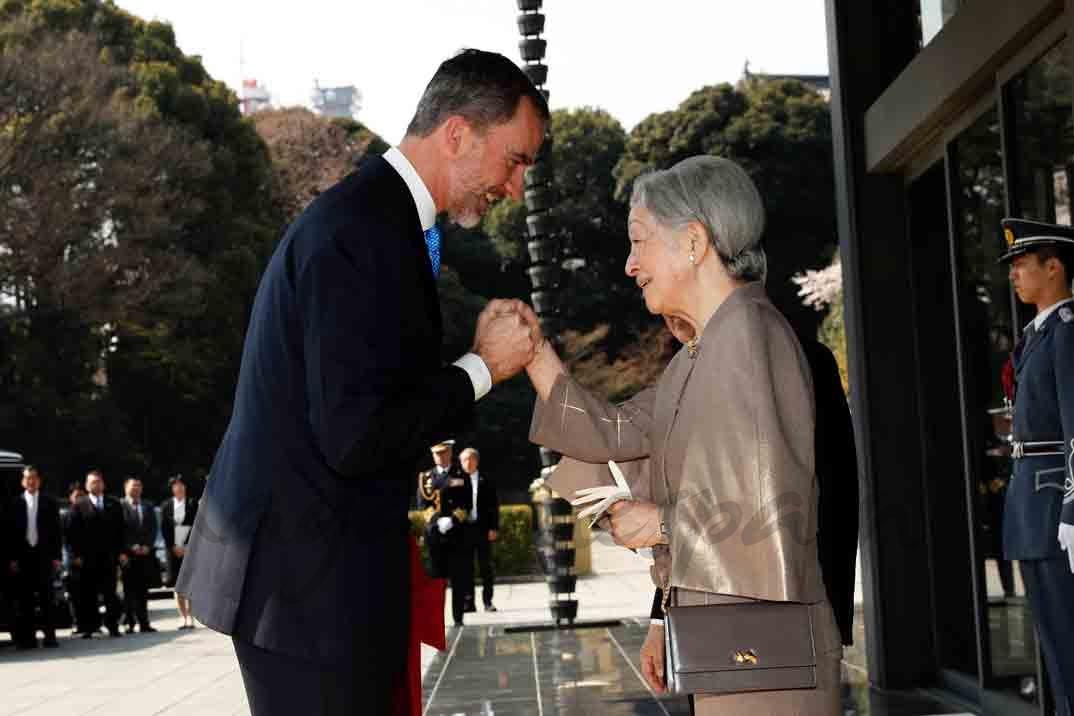 felipe VI y emperatriz de japon