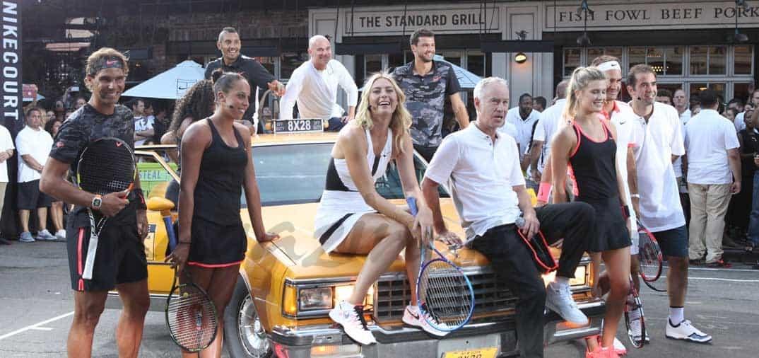 Nadal, Federer, Sharapova, Williams, en la fiesta de Nike