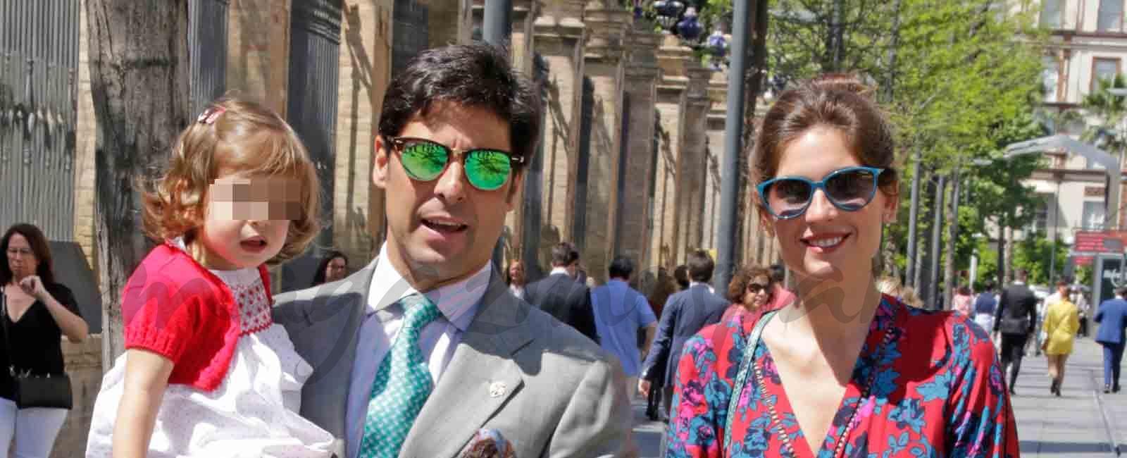 Francisco Rivera presume de hija en la procesión de la Borriquita de Sevilla