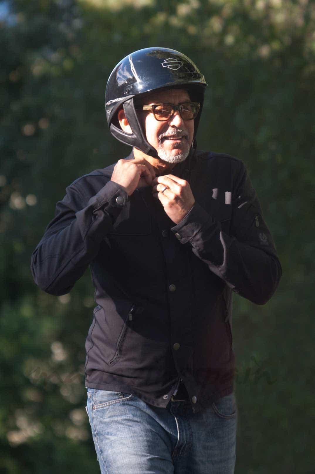 George on his bike above Lake Como George-clooney-2-2