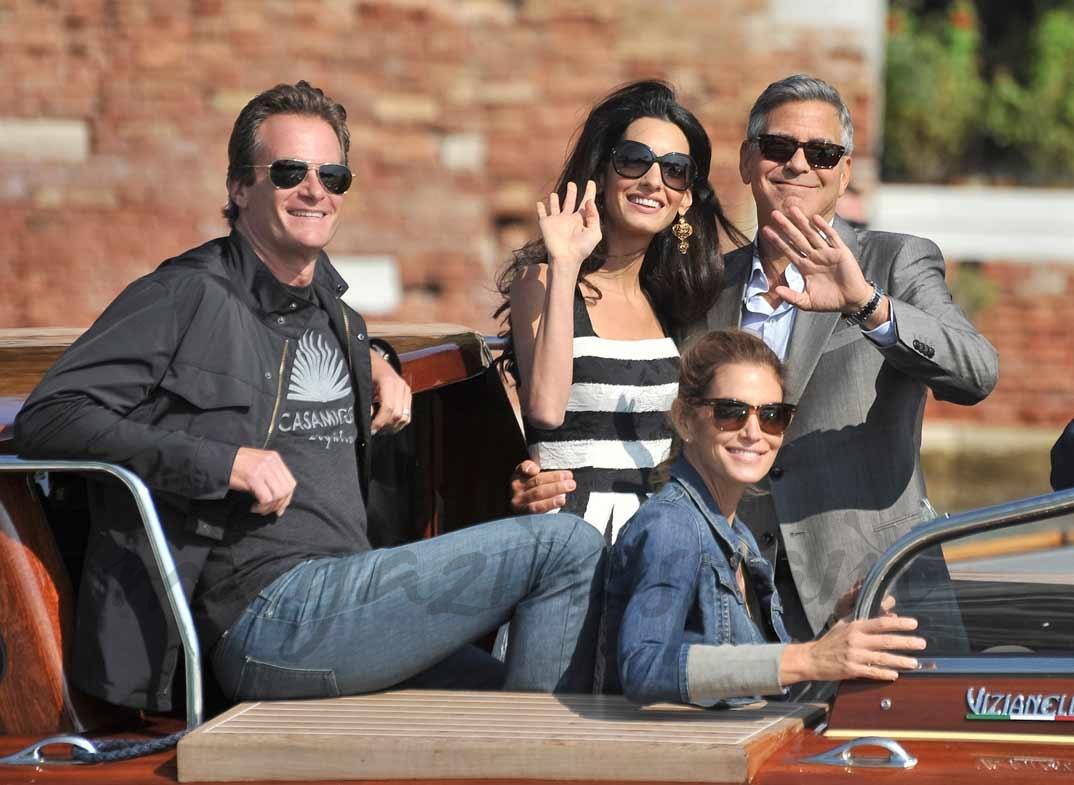 Rande Gerber, Cindy Crawford, Amal Alamuddin y George Clooney
