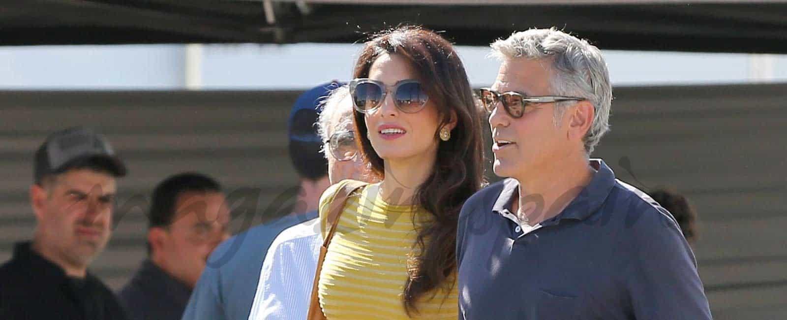 George y Amal Clooney inseparables