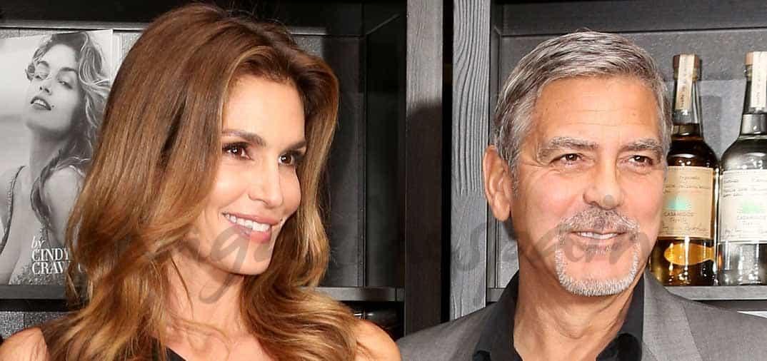 George Clooney apoya a su amiga Cindy Crawford