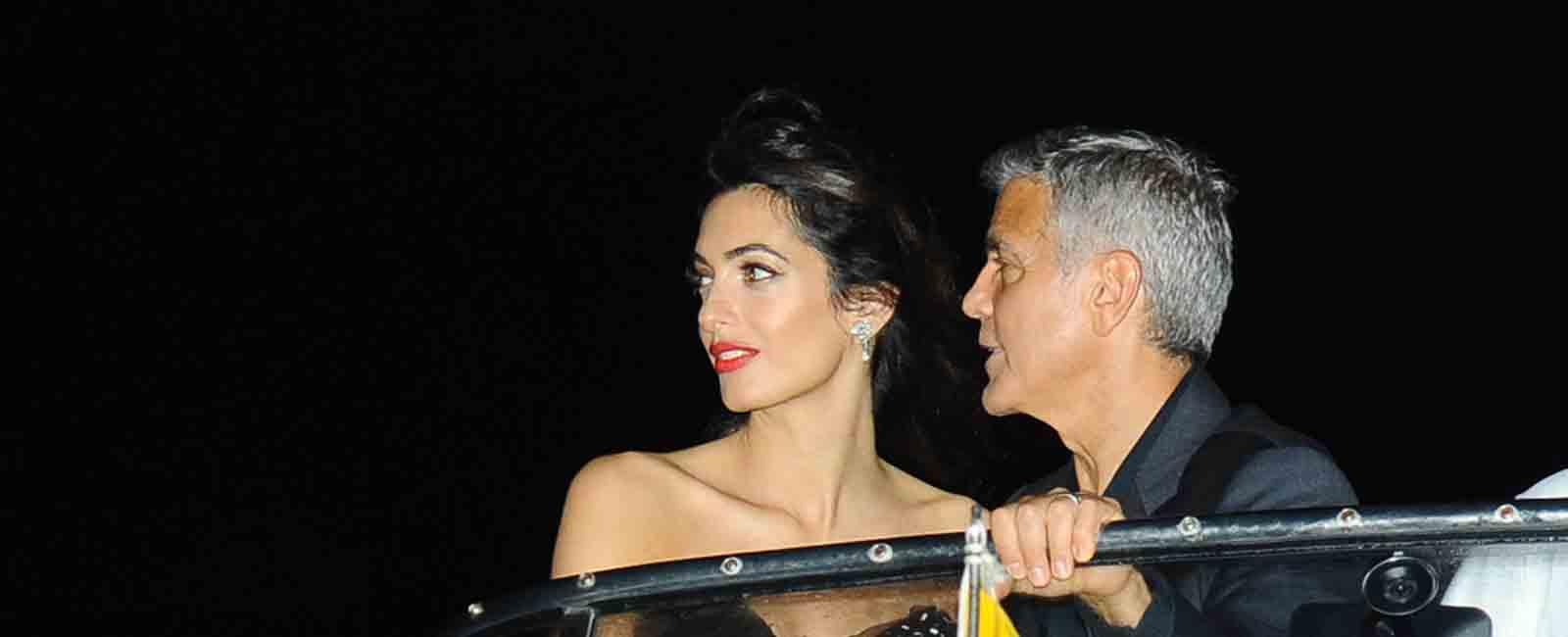 George y Amal Clooney, romántica llegada al Festival de Venecia