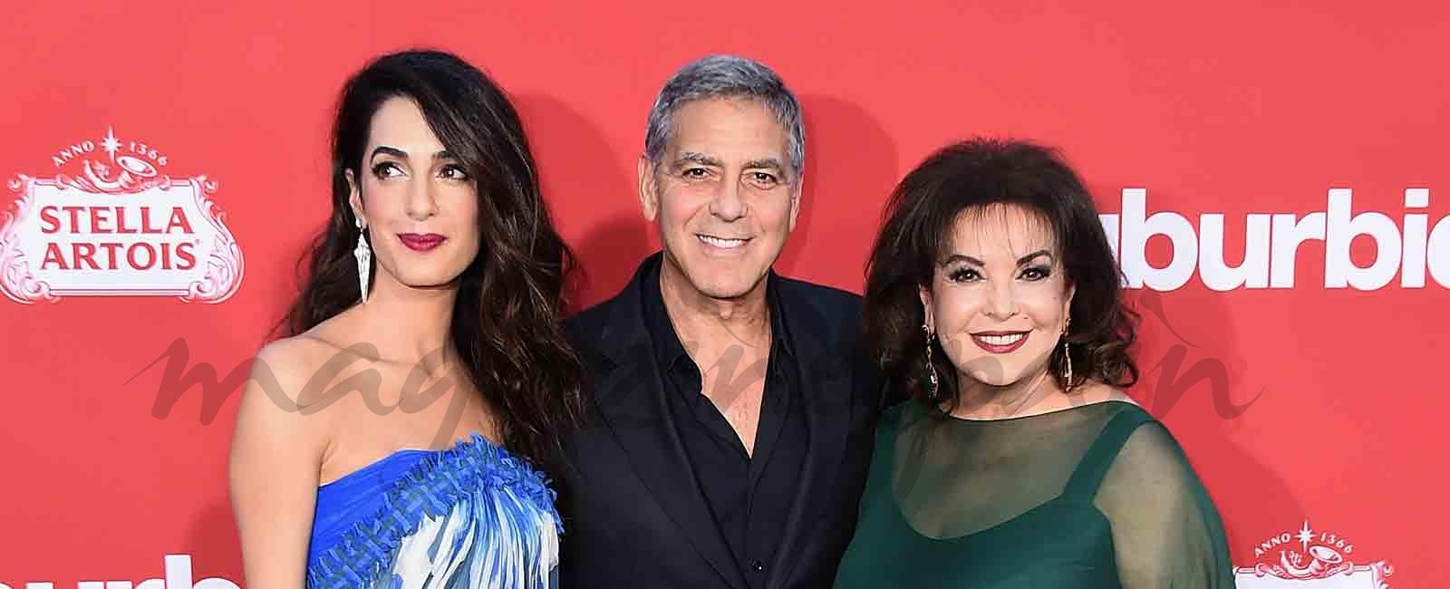 La fantástica relación de George Clooney con su suegra Baria Alamuddin