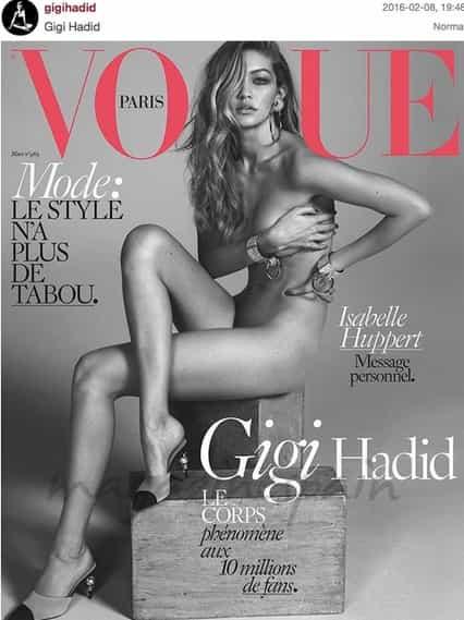 gigi hadid se desnuda para la revista vogue