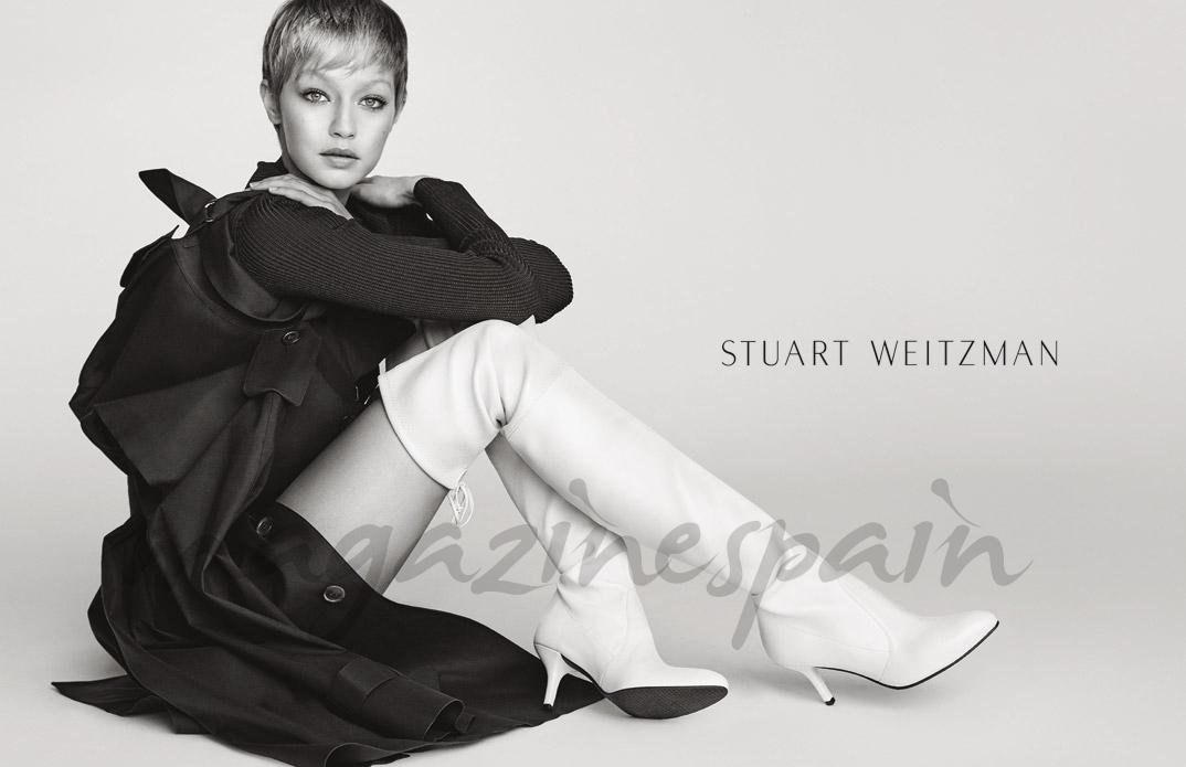 Gigi Hadid - Stuart Weitzman Fall Winter 2017