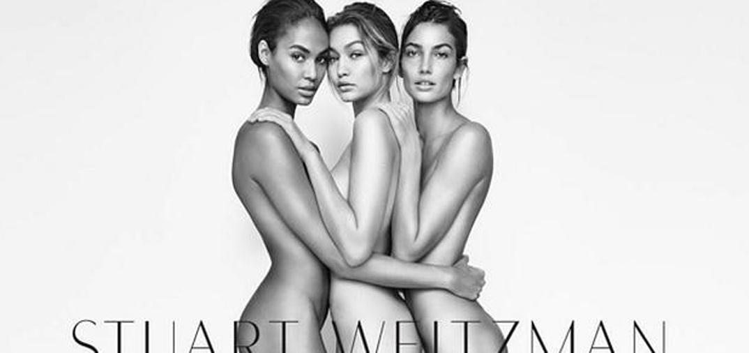 Tres «ángeles» desnudos, Gigi Hadid, Lily Aldridge y Joan Smalls