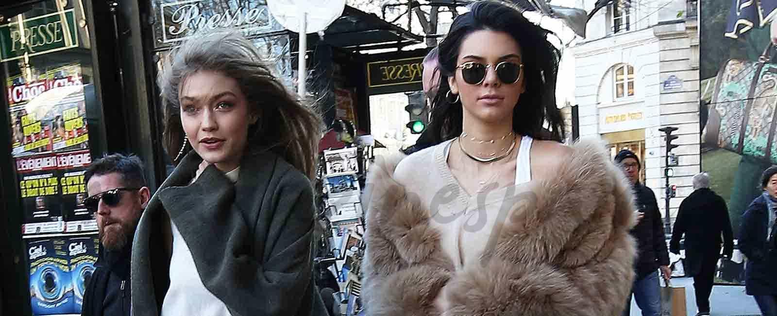 Gigi Hadid y Kendall Jenner «arrasan» en sus compras en París