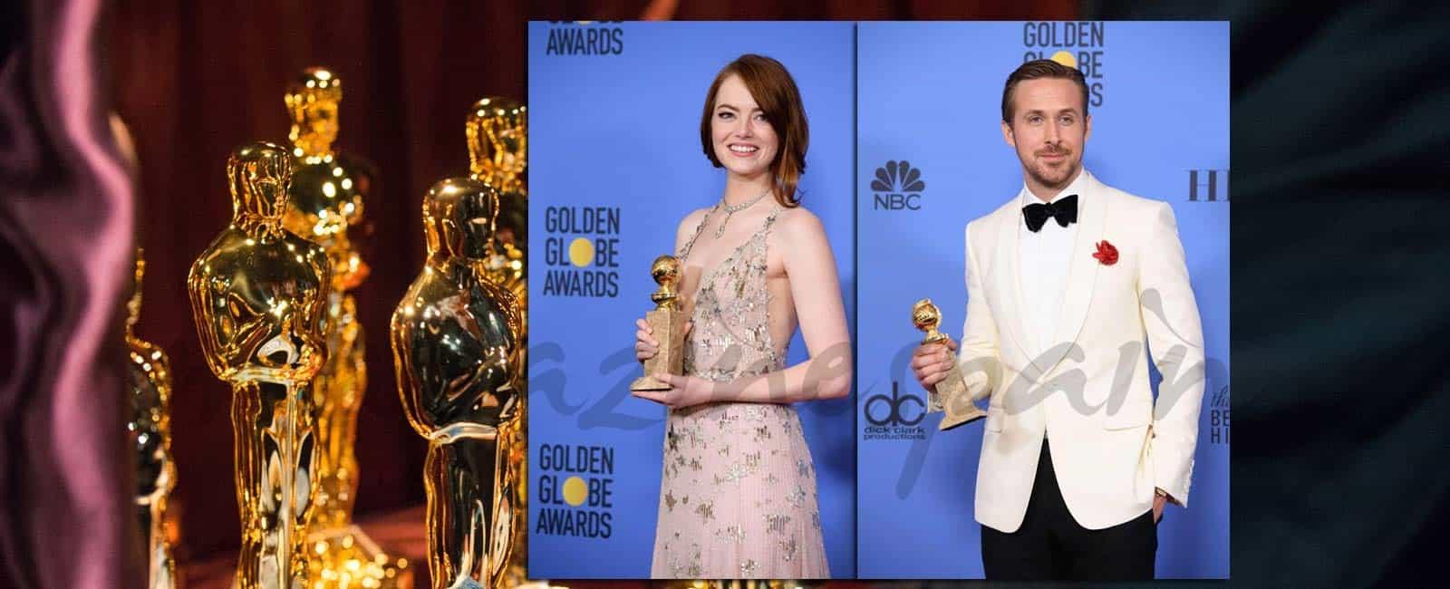 Ryan Gosling y Emma Stone, hacen historia en los Globos de Oro